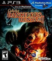 Cabela's Dangerous Hunts 2011 (Sony PlayStation 3, 2010) Brand New