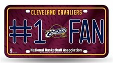 Cleveland Cavs Cavaliers #1 Fan License Plate NBA Officially Licensed Ball Ohio