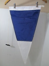 Blue & White Nautical Naval Signal Flag Nylon Canvas Pennant