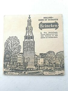 Vintage  HEINEKEN ~ The Montelbaan Tower  Cat No'09 Beer mat / Coaster