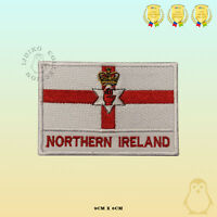 Northern Ireland National Flag With Name Embroidered Iron On Sew On Patch Badge