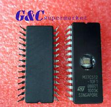 10PCS IC M27C512-10F1 27C512 CDIP-28 ST NEW GOOD QUALITY