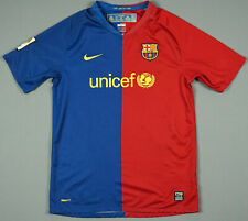 FC BARCELONA 2008/09 HOME JERSEY FOOTBALL SHIRT PEP UNICEF GUARDIOLA XL BOYS