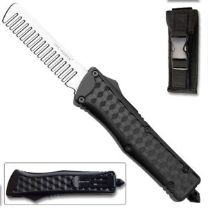 Tac Force OTF Black Beard COMB Diamond Like Handle Ltd Edition