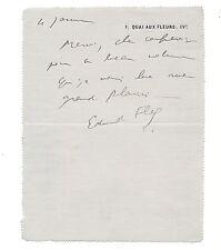 Lettre manuscrite Signé Autographe Edmond Fleg à H. Jung littérature Judaïsme