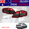 Red Smoked LED Tail Light Pair For Toyota Corolla 2007-2010 Rear Lamp Express AU