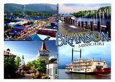 Branson Missouri Postcard New Showboat Belle Cruise Fountains Grand Village