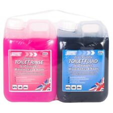 Eco Friendly Chemical Toilet Fluid & Rinse 2L Twin Pack for Caravan & Motorhome