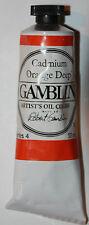 Gamblin Oil Paint-37ml - CADMIUM ORANGE DEEP- Series 4