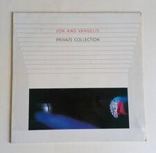 Jon & Vangelis - Private Collection - Vinyl LP UK 1983