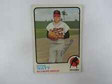 1973 Topps # 362 Eddie Watt Autograph / Signed Card Baltimore Orioles (M)