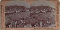 Panorama Da Cannes Vela Foto Stereo Vintage Citrato