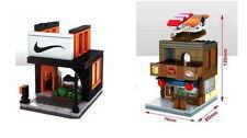 Lego compatible Sport shop & Sushi shop building instruction +  No bricks!