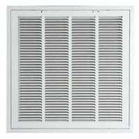 "ZORO SELECT 4MJT8 24"" x 24"" Filtered Return Air Grille, White"