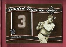 BABE RUTH GAME USED JERSEY CARD #d20/50 2004 LEAF LIMITED NEW YORK YANKEES