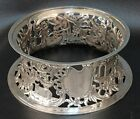 English Sterling 1894 Dish   Potato   Ring with Pastoral Scenes