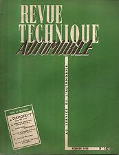 RTA revue technique automobile  N°142 DIAMOND T CAMION