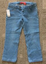 Junior Womens Size 27 Choice Calvin Klein Stretch Blue Jeans Capri Pants Stretch
