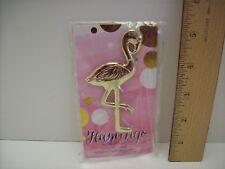 "Kate Aspen 4"" Goldtone Metal Flamingo Bottle Opener- NEW"