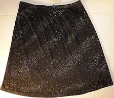 *NWT* LIMITED TOO WOMENS TEENS GIRLS BLACK AND SILVER SKIRT SIZE 7J C17 DB