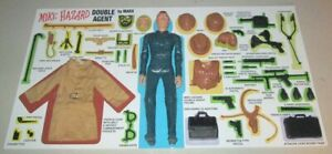Marx Mike Hazard Store Display Secret Agent Best of the West Double Agent
