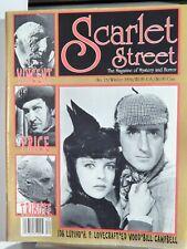 SCARLET STREET MAGAZINE #13 1994; BASIL RATHBONE IDA LUPINO VINCENT PRICE COVER