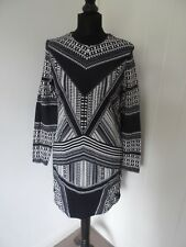 H&M Tribal Aztec Print Long Sleeve Shift Cotton Dress in Size Small *BNWT*