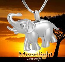 New Elephant Cremation Urn Keepsake Ashes Memorial Necklace