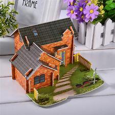3D Paper Puzzle No Glue Jigsaw DIY Christmas Dessert Shop Model Kids Toys