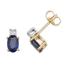 Black Sapphire Yellow Gold Fine Earrings