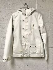 Burton Womens Off White Dryride Mutiny Hooded Snowboard Ski Jacket Size XL