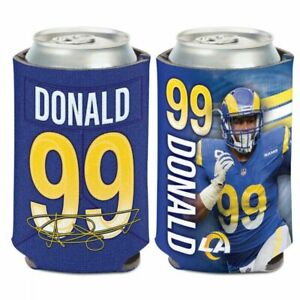 AARON DONALD LOS ANGELES RAMS SOFT FOAM CAN BOTTLE COOZIE COOLER KOOZIE NFL