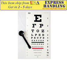 Traditional Snellen Eye Test Chart with Occluder (Set of 2)