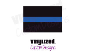Back the Thin Blue Line Vinyl Decal Flag LEO Police Officer Support COP TBL Pro