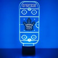 Toronto Maple Leafs Night Light Personalized FREE NHL Hockey Light Up LED Light