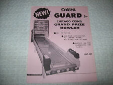 Chicago Coin Grand Prize Bowler Shuffle Alley Game Sales Flyer Brochure 1963