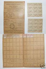900C/ TIMBRES LA SEQUANAISE / TIMBRES RETRAITES OUVRIERES PAYSANNES CARTE 1919