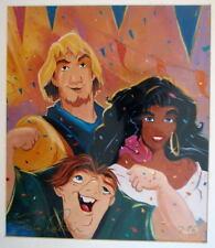 Disney QUASIMODO ESMERALDA & PHOEBUS Print HAND SIGNED Artist Eric Robison