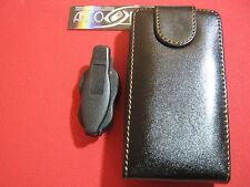 COVER CUSTODIA PER SAMSUNG OMNIA SGH i900 ECO PELLE +GANCIO CINTURA FODERO NERO