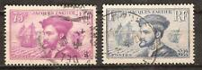 FRANCE # 296-297 Used CARTIER'S DISCOVERY OF CANADA