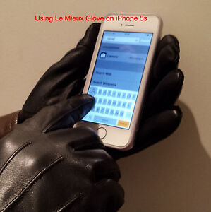 Luxury Leather Gloves. Warm Fleece Lining Touch Screen 100% Leather