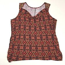 Lane Bryant Womens Plus Size Tank Top Shell Top Blouse Embellished Size 26 28