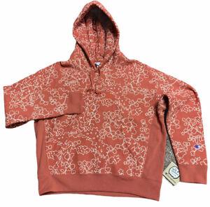 Champion Reverse Weave Womens Hoodie Large Floral Sweatshirt Athleisure NWT