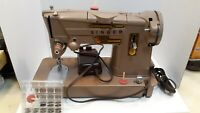 Vintage Singer Sewing Machine Made In Great Britain Model 328K Cord & Foot Pedal