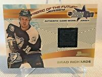 BRAD RICHARDS 2001-02 BOWMAN YOUNG STARS GAME USED JERSEY TAMPA BAY LIGHTNING