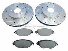 FORD MONDEO MK3 2.2 TDCI ST 155 FRONT DRILLED & GROOVED BRAKE DISCS MINTEX PADS