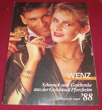 dachbodenfund versandhaus katalog wenz schmuck geschenke aus pforzheim 1988 alt