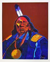 JOHN NIETO Hand SIGNED SERIGRAPH Silkscreen FRAMED NATIVE AMERICAN WHITE BEAR