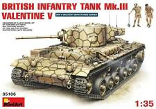 Miniart 1/35 British Infantry Tank Mk.III Valentine V w/Crew #35106 *Sealed*