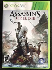 XBOX 360 Assassin's Creed 3 Mint with Manual